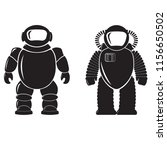 black spacesuits for astronauts | Shutterstock .eps vector #1156650502