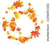 maple leaves vector background  ... | Shutterstock .eps vector #1156651102