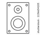 sound speaker thin line icon ...   Shutterstock .eps vector #1156654105