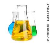 laboratory glassware with...
