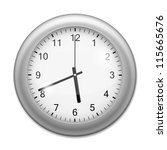 realistic wall clock isolated... | Shutterstock .eps vector #115665676