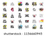 typography slogan with girl... | Shutterstock .eps vector #1156660945