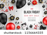 black friday sale poster with... | Shutterstock .eps vector #1156664335