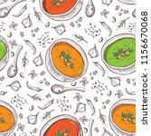 cream soup vector seamless... | Shutterstock .eps vector #1156670068