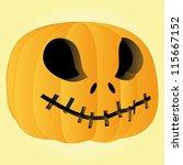vector scary pumpkin halloween... | Shutterstock .eps vector #115667152