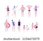 beach holiday   flat design... | Shutterstock . vector #1156672075