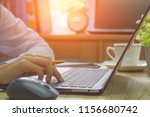 business woman hand working and ... | Shutterstock . vector #1156680742