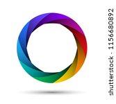 colorful camera shutter... | Shutterstock .eps vector #1156680892