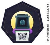 asic mining farm . asic mining... | Shutterstock .eps vector #1156682755