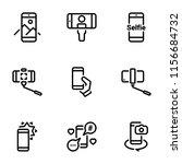 set of black vector icons ... | Shutterstock .eps vector #1156684732