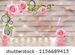 3d pink flowers on jade... | Shutterstock . vector #1156689415