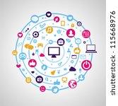 vector social media concept  ... | Shutterstock .eps vector #115668976