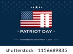 patriot day background with... | Shutterstock .eps vector #1156689835
