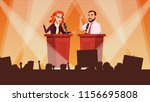 political meeting vector.... | Shutterstock .eps vector #1156695808