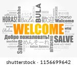 welcome word cloud in different ... | Shutterstock .eps vector #1156699642