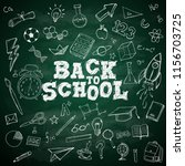 back to school text school... | Shutterstock .eps vector #1156703725