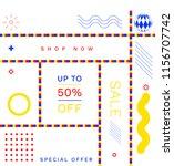 modern promotion square web... | Shutterstock .eps vector #1156707742