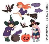 halloween vector illustration... | Shutterstock .eps vector #1156714888