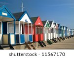 beach huts  southwold  suffolk  ...