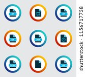 file icons colored set with... | Shutterstock .eps vector #1156717738