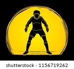 goalkeeper prepare catches the... | Shutterstock .eps vector #1156719262