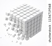 small cubes forming a big cube. ... | Shutterstock .eps vector #1156719568