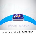 smart watch device display with ... | Shutterstock .eps vector #1156722238