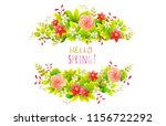 floral frame. wreath of spring... | Shutterstock .eps vector #1156722292
