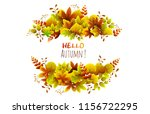 foliage with rectangle frame.... | Shutterstock .eps vector #1156722295