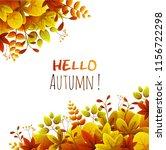 border frame of autumn leaves....   Shutterstock .eps vector #1156722298