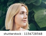 beautiful blonde woman with... | Shutterstock . vector #1156728568