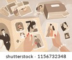woman's hands holding old... | Shutterstock . vector #1156732348