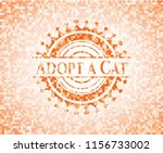 adopt a cat abstract orange... | Shutterstock .eps vector #1156733002