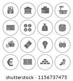money icons  money cash icons... | Shutterstock .eps vector #1156737475