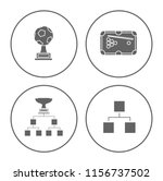 winner icons set   cup and... | Shutterstock .eps vector #1156737502