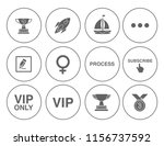 shipping icons set   delivery... | Shutterstock .eps vector #1156737592