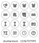 time clock icons set   alarm  ... | Shutterstock .eps vector #1156737595