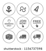 shipping icons set   delivery... | Shutterstock .eps vector #1156737598