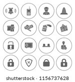 safety and security icons set   ... | Shutterstock .eps vector #1156737628