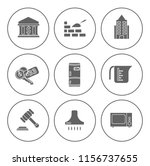 real estate icons set   house... | Shutterstock .eps vector #1156737655