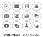 equipment photography icons set ... | Shutterstock .eps vector #1156737658