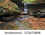 Blue Hen Falls. Image of Blue Hen Falls in autumn.
