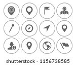 map pin icons set   navigation... | Shutterstock .eps vector #1156738585