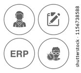 people management icons set  ... | Shutterstock .eps vector #1156738588