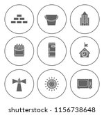 real estate icons set   house... | Shutterstock .eps vector #1156738648