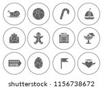 beach and summer icons set  ... | Shutterstock .eps vector #1156738672