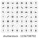 vector food icons set   eat and ... | Shutterstock .eps vector #1156738702