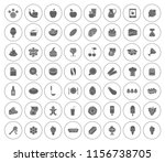vector food icons set   eat and ... | Shutterstock .eps vector #1156738705