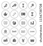 business financial icons set  ... | Shutterstock .eps vector #1156738708