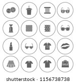 fashion design icons set  ... | Shutterstock .eps vector #1156738738